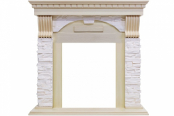 Каминный портал Royal Flame Dublin - Слоновая кость с патиной / Сланец крем