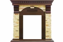 Каминный портал Royal Flame Dublin угловой - Темный дуб / Сланец