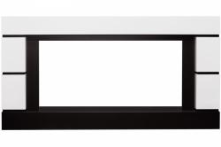 Линейный портал Royal Flame Modern - Белый с черным (Высота 710 см)