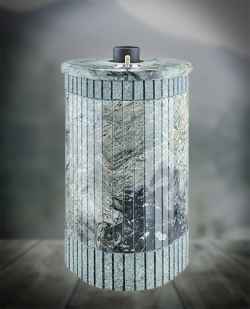 Печь для бани Ферингер Оптима ПФ 'До 28 м³' Жадеит бучардированный + Жадеит
