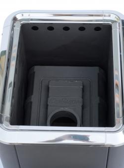 """Печь банная чугунная """"Сибирь-18"""". Панорамная дверца (конвекционная)"""