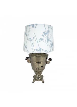 Самовар-светильник с абажуром, форма Рюмка гладкая