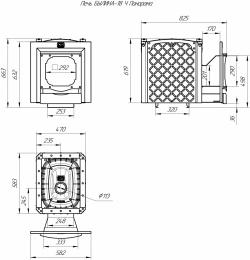 Печь для бани Былина-18 Ч Панорама