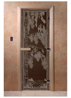 """Дверь """"Березка черный жемчуг"""""""