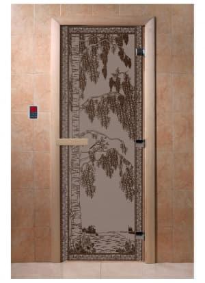 """Дверь """"Березка черный жемчуг матовая"""""""