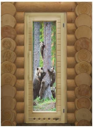 """Дверь """"Элит Люкс Мишки"""" с Фотопечатью"""