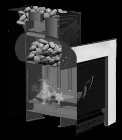 Банная печь ПЕГАС 16 панорама конвекция