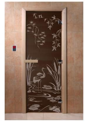 """Дверь """"Камышовый рай черный жемчуг"""""""