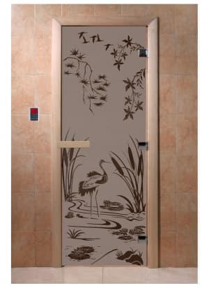 """Дверь """"Камышовый рай черный жемчуг матовая"""""""