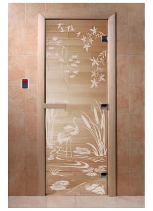 """Дверь """"Камышовый рай прозрачная"""""""