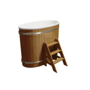 Купель композитная круглая Polarspa «Стандарт» 68х130х110 см