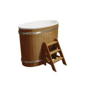 Купель композитная круглая Polarspa «Стандарт+» 79х125х110 см
