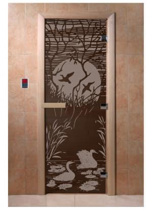 """Дверь """"Лебединое озеро черный жемчуг"""""""