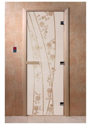 """Дверь """"Весна цветы сатин"""""""