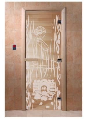 """Дверь """"Волшебный пар прозрачная"""""""
